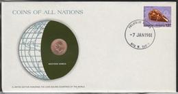 0185 - Numiscover / Enveloppe Numismatique - SAMOA - 1 Sene 1974 - Samoa