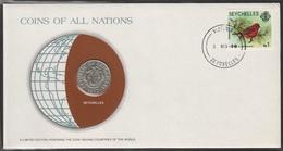 0186 - Numiscover / Enveloppe Numismatique - SEYCHELLES - 50 Cents 1977 - Seychelles