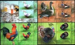 """Moldova 2018 """"Domestic Birds"""" 4 Blocks Of 2v Zf. Quality:100% - Moldavie"""