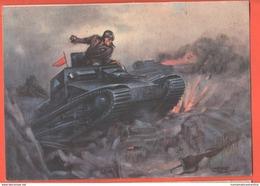Tafuri Carristi Carrarmato Fiat L3/35 AOI 1943 Carro Armato Italiano Tank F. Duval Réservoir Cpa Viaggiata - Guerra 1939-45