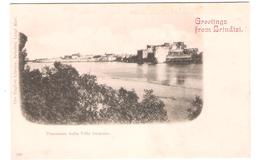 Italy - Greetings From Brindisi - Panorama Dalla Villa Dionisio - Old Card - Brindisi