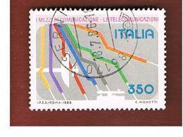 ITALIA REPUBBLICA  - SASS. 1769    1986  TELECOMUNICAZIONI   -      USATO - 6. 1946-.. Repubblica