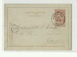 E.P. Carte-lettre Fine Barbe 10c. Obl. Sc ANTHEE 23 Avril 1896 Vers Gand .- W0666 - Postbladen
