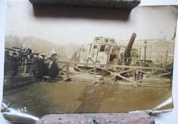 PHOTO CHAR CHARS CANON CANONS ALLEMANDS ALLEMAND PRISES DE GUERRE 1914 1918 - War, Military