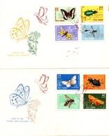 Roamania 1964, Scott 1615-1622, FDC, Insects, Butterflies - 1948-.... Républiques