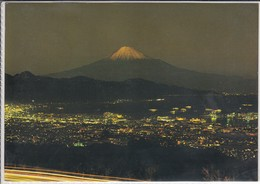 JAPAN, NIPPON - MT. FUJI At Night, Volcano, Vulcano Vulkan, Tagen From Nihondaira In Shizuoka Prefecture - Giappone