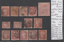 TIMBRES DE GRANDE-BRETAGNE  OBLITEREES 1862 Nr VOIR SUR PAPIER AVEC TIMBRES  COTE  605.5 € - Ohne Zuordnung