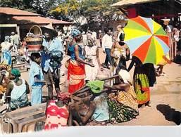 Afrique En Couleurs SENEGAL Marché Africain ( Timbre Stamp REPUBLIQUE Du SENEGAL) - Senegal