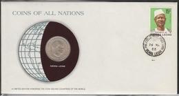 0187 - Numiscover / Enveloppe Numismatique - SIERRA LEONE - 20 Cents 1964 - Sierra Leone