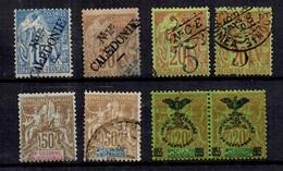 Nouvelle-Calédonie Huit Bonnes Valeurs Neufs* Et Oblitérés 1892/1903. B/TB. A Saisir! - Nieuw-Caledonië