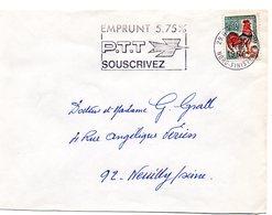 FINISTERE - Dépt N° 29 = BREST Ppal 1966 =  FLAMME Codée = SECAP  ' EMPRUNT PTT 5.75 % / SOUSCRIVEZ ' - Postmark Collection (Covers)