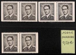 [820763]TB//**/Mnh-Belgique 1970 - N° 1561D, Nuances, Rois - Errors And Oddities