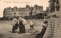 13117   BIARRITZ   L HOTELVICTORIA  VU DE LA GRANDE PLAGE - Biarritz