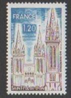 France Neuf Sans Charnière 1974 Série Touristique Religion  Cathédrale Saint Pol De Léon Bretagne  YT 1808 - Francia