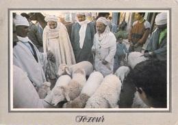 Afrique TUNISIE TOZEUR Marché Aux Moutons (moton Sheep Sheeps)  (timbre Stamp REPUBLIQUE TUNISIENNE ) * PRIX FIXE - Tunisia