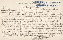 Marine 1907 CP Tanger Main Street Cachet Croiseur Cuirassé Jeanne D'Arc - Storia Postale