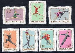HUNGARY 1963 European Figure Skating Championships Set Of 7 MNH / **.  Michel 1898-904o - Nuevos