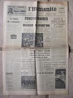 Journal L'Humanité (30 Juin 1955) Procès Karlsruhe - Philippeville - L'appel D'Helsinski - Journaux - Quotidiens