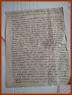 COPIE MANUSCRITE LETTRE DE BERTRAND DE SALIGNAC LA MOTHE FENELON 1581 à Mme De GONTAUT BIRON Vve De Mr De SAINT SULPICE - Historical Documents