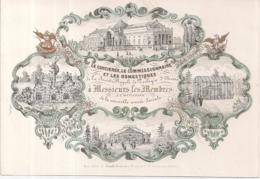 """ANTWERPEN-ANVERS """" NIEUWJAARSWENSEN 1855 VAN DE SOC.ROYALE DE ZOOLOGIE3 LTH.RATINCKX-157/109MM - Cartes Porcelaine"""
