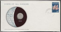 0192 - Numiscover / Enveloppe Numismatique - SURINAME - 25 Cents 1976 - Surinam 1975 - ...