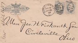 Etats Unis Jolie Lettre Cincinnati 1887 - Postal History