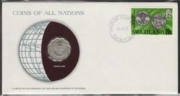 0193 - Numiscover / Enveloppe Numismatique - SWAZILAND - 20 Cents 1975 - Swaziland