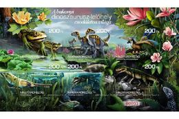 Hungary 2020. Prehistoric Animals / Flowers / Fauna Nice Sheet Limited IMPERF Variation! MNH (**) - Stamps