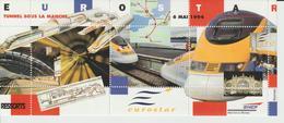 France Vignettes SNCF Direction Du Matériel Eurostar 1994 - Erinnophilie