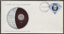 0196 - Numiscover / Enveloppe Numismatique - TONGA - 5 Seniti 1977 - Tonga