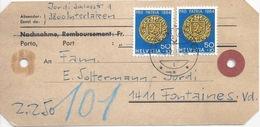 Paketadresse  Interlaken - Fontaines            1965 - Covers & Documents