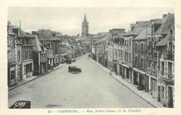 Promotion Club 2 X Cpa 35 COMBOURG. Pharmacie Lenee Rue Notre-Dame Et Bibliothèque Du Château - Combourg
