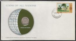 0197 - Numiscover / Enveloppe Numismatique - TRINITE ET TOBAGO - 25 Cents 1976 - Trinidad & Tobago