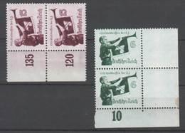 Drittes Reich , Nr 584-85x ,  Postfrische Paare - Germany