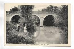 32 - LECTOURE ( Gers ) - Pont Sur Le Gers - Pêcheurs - Lectoure