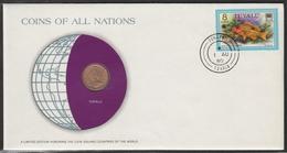 0198 - Numiscover / Enveloppe Numismatique - TUVALU - 1 Cent 1976 - Tuvalu