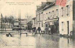 MONTARGIS INONDATION DU 26 FEVRIER 1906 PASSERELLE IMPROVISEE - Montargis