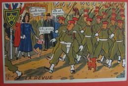 Illustrateur PETIET - Humour Militaria  - LA REVUE - Humor