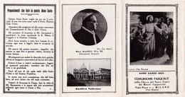 COMUNIONE PASQUALE1925 - MILANO - CHIESA DEL SACRO CUORE DEI MINORI CAPPUCCINI  -  A - Mm. 80 X 120 - ANNO SANTO 1925 - Religione & Esoterismo