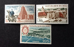 MALI - 3 Timbres Neufs - Tombouctou La Mystérieuse, Bamako - 1961 - Timbres Y&T PA 12-14 - Mali (1959-...)