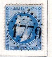 Moselle Hellimer  GC 45921779 Cote Pothion (sur Lettre) Ind. 13 = 100 Eu - Marcophilie (Timbres Détachés)
