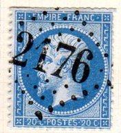 Meurthe Mezieres Les Vic GC 2476  Cote Pothion (sur Lettre) Ind 7 = 30 Eu - 1849-1876: Période Classique