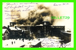 DOVER, NH - FEU AU MOULIN DE COTON - TRAVEL IN 1907 - UNDIVIDED BACK - - Dover