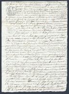 Très Bel Acte Notarié De Partage Du 23 Avril 1805 Département Des Vosges - Manuscritos
