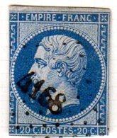 Meurthe Bouxieres Aux Chênes Pc 4168 Cote Pothion (sur Lettre) Ind 17 = 220 Eu - 1849-1876: Période Classique