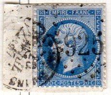 Meurthe Chateu-Salins GC 925 Cote Pothion (sur Lettre) Ind 5 = 20 Eu - 1849-1876: Période Classique