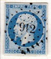 Meurthe Colombey Les Belles Pc 912 Cote Pothion (sur Lettre) Ind 8 =45eu - 1849-1876: Période Classique