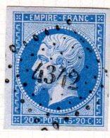 Meurthe Einville Pc 4342 Cote Pothion (sur Lettre) Ind 14 = 120 - 1849-1876: Période Classique