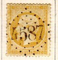 Meurthe Haboudange GC 4587  Cote Pothion (sur Lettre) Ind 12 = 80 Eu - Marcophilie (Timbres Détachés)