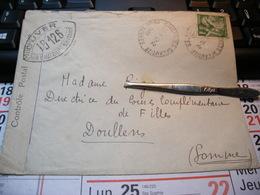 Enveloppe Contrôle Postal Militaire 1940. DOULLENS - Coulonges-sur-l'Autize - Autres